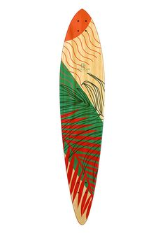 Longboard /Tropical 6 x 10 Pintail Longboard Skate Deck These Longboard decks are high quality, made from 7 layers of rock hard maple. Pintail Longboard, Longboard Decks, 7 Layers, Skate Decks, Longboarding, Surfboard, Surfing, Original Art, Tropical