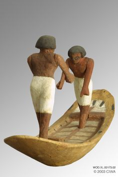 Nile boat with two sailors, Dyn. 11