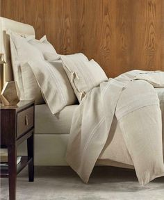 Hotel Collection Madison Hemstitch King Flat Sheet, Created for Macy's Bedding Flat Sheets, Fitted Sheets, Hotel Collection Bedding, Hotel Bed, Beige Style, Linen Bedding, Bed Linen, Linens And Lace, Queen Duvet