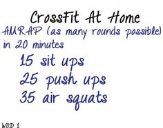So much good stuff from CorssFit! Mini home workouts. Good blog/article to look at.