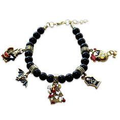 Halloween Charm Bracelet in Gold