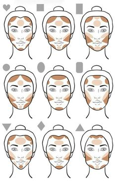 Make-up tips Contouring give your face that certain something Haus Dekora . - Make-up tips Contouring give your face that certain something house decoration More Face Makeup con - Slimmer Face, Plus Size Makeup, Makeup Charts, Pinterest Makeup, Makeup Guide, Makeup 101, Makeup Case, Makeup Geek, Contouring And Highlighting