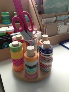 Washi Tape Organizer Washi Tape Karussell 7 von pindinc auf Etsy