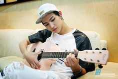 JB. Pink guitar