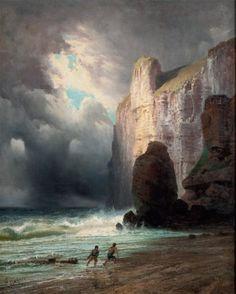 Alfred GODCHAUX (1835-1895) Falaise Huile sur toile. Signée en bas à gauche. 9
