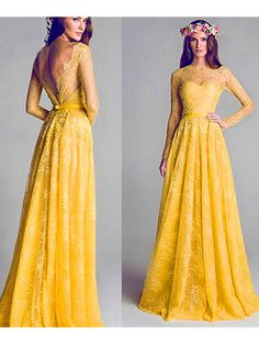 Silhouette:+A-line  Neckline:+Scoop  Hemline/Train:+Floor-length  Sleeve+Length:+Full+Sleeve  Embellishment:+Lace  Back+Details:+Backless  Fabric:+Tulle    Size:+standard+size+or+custom+size,+if+dress+is+custom+made,+we+need+to+size+as+following+  bust______+cm/inch+  waist______cm/inch+  hip:___...