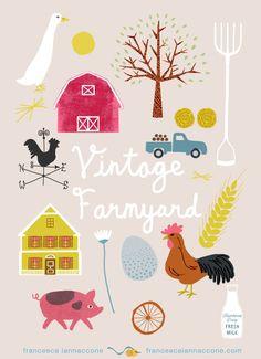 Francesca Iannaccone | Shape Colour Pattern | Illustration  Farmyard pattern, art licensing