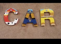 Hand painted Initial Letters by Katidids1019 on Etsy