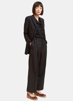 Lanvin Pleat Cropped Wide Leg Pants | LN-CC