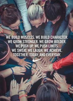 We build muscles