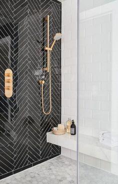Black and white tile bathroom decorating ideas 27
