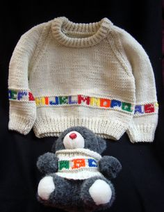 Hand Knitted Child's Sweater for a Girl or Boy
