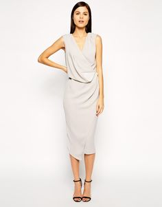 ASOS Wrap Drape Midi Dress