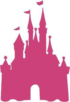 "Disney Castle Princess 22""l x 32""hPink Cinderella Girls Vinyl Wall Decal Sticker Art. $29.95, via Etsy."