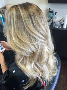 Ashy blonde balayage