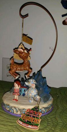 Jim Shore Rudolph Figurine Ornament Holder  - http://collectiblefigurines.net/jim-shore/christmas/jim-shore-rudolph-figurine-ornament-holder/