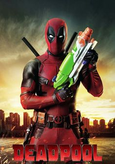 Deadpool Ryan Reynolds as Deadpool with Nerf gun 8 x 10 Inch Photo Measurements: 8 x 10 Inches Brand New No holes, rips, tears, or bends Great for framing! Deadpool Film, Deadpool 2016, Deadpool Love, Deadpool Art, Deadpool Funny, Deadpool Quotes, Deadpool Tattoo, Deadpool Costume, Lady Deadpool
