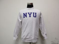 Champion New York University Violets REVERSE WEAVE Sweatshirt sz S Small NCAA #Champion #SweatshirtCrew