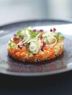 #Tartare de #saumon à la #pomme #verte