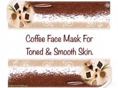 Coffee Face Mask For Toned & Smooth Skin. Aloe Vera For Face, Aloe Vera Face Mask, Aloe Vera Gel, Coffee Face Mask, Smooth Face, Green Clay, Beauty Hacks, Remedies, Skin Care