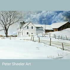 "Yes. I do paint larger pictures. Farmhouse Rural landscape. 24""x30"" Watercolor on Canvas.  www.ebay.ca/usr/sheelerart #art #artist #original #watercolor #watercolour #miniature #painting #aceo #ebay #paintingaday #ink #pen #waterbrush #winsornewtonmarker 