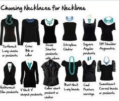 Petite style advice: How to choose the right necklace for the neckline you are wearing.
