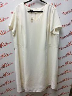 f20f06a3608a89 Talbots Size 22W Cream Shift Dress (NWT). ResellXL®