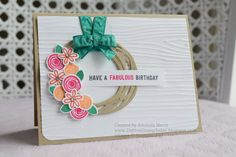 Did You Stamp Today?: Swirly Wreath - Stampin' Up! Swirly Bird - Fab Friday 87