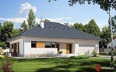 Projekt domu jednorodzinnego KA37 (IN95) | wybieramprojekt.pl My House Plans, Home Fashion, Gazebo, Garage Doors, Shed, Outdoor Structures, Cabin, House Styles, Outdoor Decor