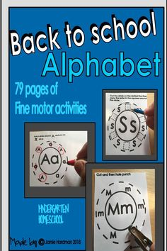 This pack includes fine motor activities that are perfect for small groups, centers, and more! Each of the activities practice learning the alphabet in a fun way!! HANDS ON! Fine motor skills worked on are cutting/hole punching/printing. These activities are PRINTABLES! NO-PREP!! If you like this please check out my store for other exciting and fun activities Learning The Alphabet, Alphabet Activities, Language Activities, Motor Activities, Learning Through Play, Hole Punch, Kindergarten Activities, Fine Motor Skills, Small Groups
