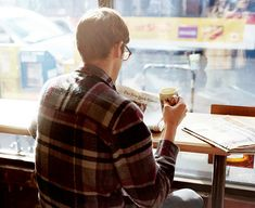 Yes. Glasses, flannel, tea, newspaper. Autumn. Cuddle weather, early morning breakfast dates.
