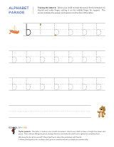 Lowercase b letter tracing worksheet, with easy-to-follow arrows showing the proper formation of the letter.