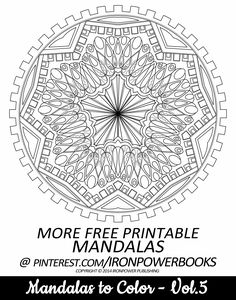 #FREE Printable Mandala Coloring Pages @ironpowerbooks | This uniquely design Mandala Page is from Mandalas to Color, paperback copy at http://www.amazon.com/Mandalas-Color-Mandala-Coloring-Adults/dp/149733716X | It will be awesome to share your colored works with us! Follow @ironpowerbooks for more free Coloring Pages everyday!! | Please use freely for personal non-commercial use