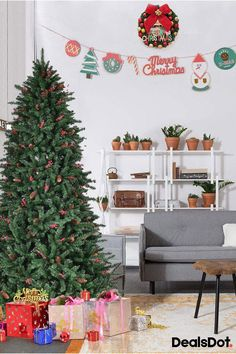 artificial pvc christmas tree hinged 1918 tips w/pine cones & red berries 0 Large Christmas Baubles, Christmas Time, Christmas Crafts, Christmas Decorations, Xmas, Holiday Decor, Diy Projects For Teens, Diy For Teens, Dollar Tree Store