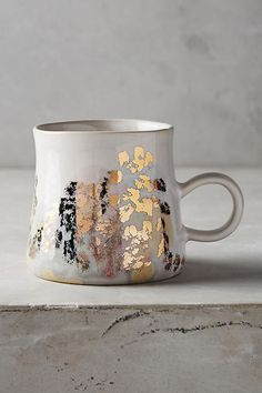 gold speckled coffee mugs