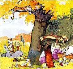 calvin and hobbes friendship – Google Sök Sitting In A Tree, Calvin And Hobbes, Pop Culture, Friendship, Geek Stuff, Painting, Google, Art, Geek Things