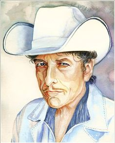 BOB DYLANArt Print of Original Watercolor Painting by workingwoman, $35.00