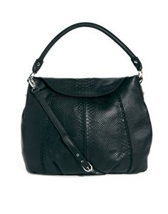 Ri2K Leather Snakeskin Effect Shoulder Bag Found @ asos