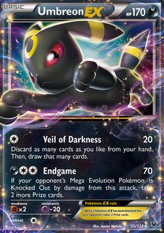 Umbreon EX - XY - Fates Collide, Pokemon - Online Gaming Store for Cards, Miniatures, Singles, Packs & Booster Boxes Mega Evolution Pokemon, Mega Pokemon, Pokemon Party, Pokemon Fan, 3ds Pokemon, Pokemon Tcg Cards, Cool Pokemon Cards, Pokemon Trading Card, Trading Cards