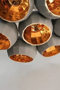 Marset Scotch Club Light: A ceramic hanging lamp inspired by the birth of disco [Graham Hiemstra] Club Lighting, Home Lighting, Lighting Design, Strip Lighting, Copper Lighting, Pendant Lighting, Chandeliers, Architecture Design, Scotch