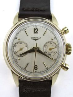 1950s Longines  - Flyback in Yellow Gold