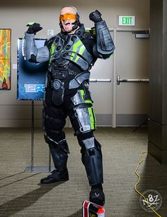Photo by N8Zim Photography http://www.facebook.com/N8ZimPhotography  Awesome, I'm doing the capacitor chestplate and the archon visor as well!  I wonder what he made his visor out of....