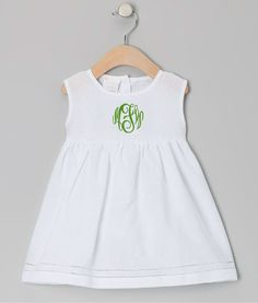 Monogrammed Baby and Toddler Dress  Preppy by LLMonograms on Etsy