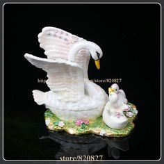 Find More Jewelry Packaging & Display Information about Creative Heavy Duty Pewter Crystal Enamel Swan Keepsake / Trinket Box Jewelry Box Swan Family Pewter Metal Figurine Trinket Box,High Quality figurine antique,China box microphone Suppliers, Cheap box invitation from trinket jewelry box on Aliexpress.com