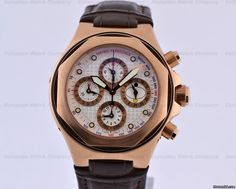 Girard Perregaux Laureato EVO3 Perpetual Calendar Chronograph 18K RG $22,000 #GirardPerregaux #watch #watches #luxury #style #chronograph pink gold case with automatic movement