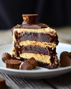 Flourless Chocolate Peanut Butter Cup Cake