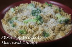 Quick and Easy comfort food with a healthy twist! Stove Top Broccoli Mac and Cheese