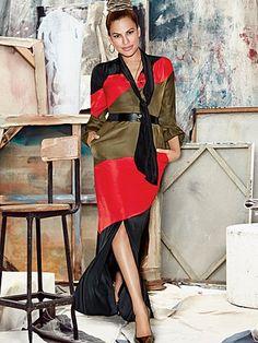 Shop Eva Mendes Collection - Alma Maxi Dress - Stripe soooo mad this isn't in petite!