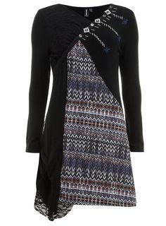 Izabel London Blue Patchwork Dress