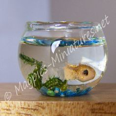 Doll House Miniature Goldfish in Bowl